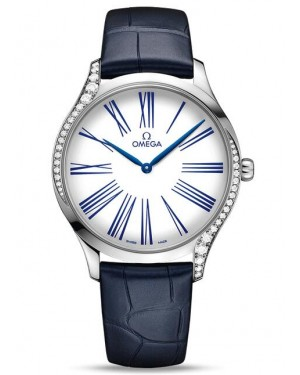 Replica Omega De Ville Tresor Quartz 39mm White Roman Ladies Watch 428.18.39.60.04.001
