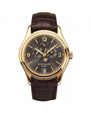 Fake Patek Philippe Complications Yellow Gold Mens Watch 5146J-010