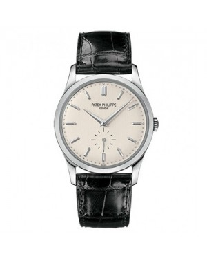 Fake Patek Philippe Calatrava White Gold Mens Watch 5196G-001