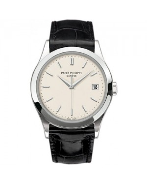 Fake Patek Philippe Calatrava White Gold Mens Watch 5296G-010