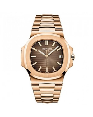 Fake Patek Philippe Nautilus Rose Gold Mens Watch 5711/1R-001