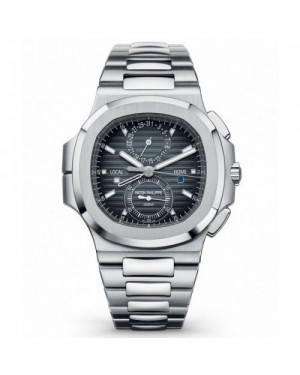 Fake Patek Philippe Nautilus Travel Time Chronograph Automatic Mens Watch 5990/1A-001