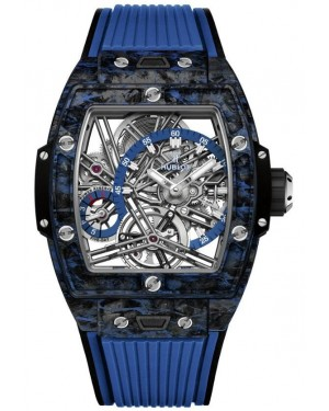 Fake Hublot Spirit Of Big Bang Tourbillon Carbon Blue Watch 645.QL.7117.RX