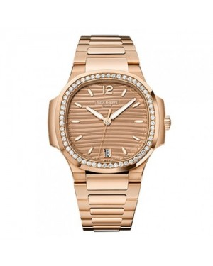 Fake Patek Philippe Nautilus Rose Gold Ladies Watch 7118/1200R-010
