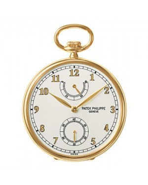 Fake Patek Philippe Yellow Gold Pocket Watch for Men 972/1J-010