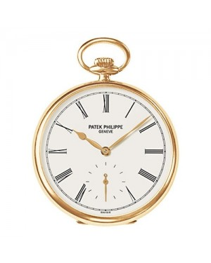 Fake Patek Philippe Yellow Gold Pocket Watch for Men 973J-010