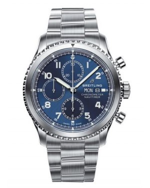 Replica Breitling Navitimer 8 Chronograph 43 Steel Blue Watch A13314101C1A1