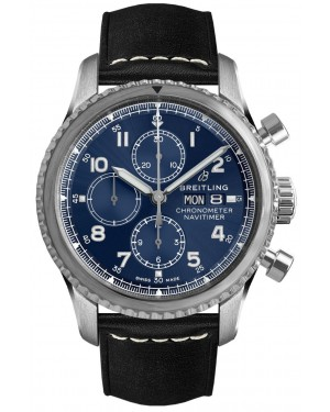 Replica Breitling Navitimer 8 Chronograph 43 Steel Blue Watch A13314101C1X1