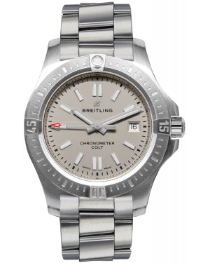Replica Breitling Chronomat Colt Automatic 41 Steel Silver Mens Watch A17313101G1A1