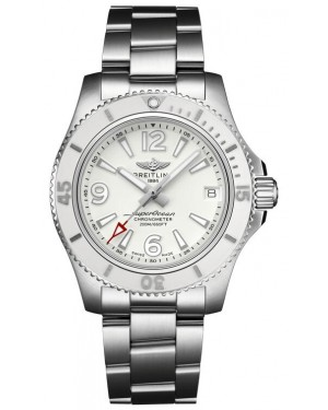 Fake Breitling Superocean Automatic 36 Silver Bracelet Watch A17316D21A1A1