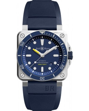 Replica Bell & Ross Diver Blue BR03-92 Automatic 42mm Mens Watch BR0392-D-BU-ST/SRB