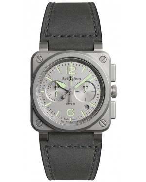 Replica Bell & Ross Instruments Horolum Mens Watch BR0394-GR-ST/SCA