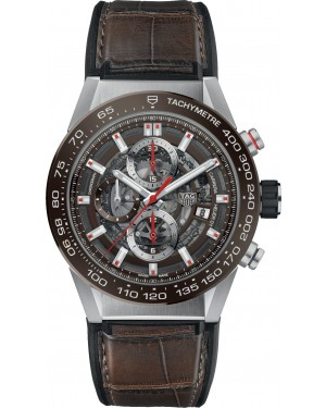 Fake TAG Heuer Carrera Calibre Heuer 01 Automatic Watch 43 mm CAR201U.FC6405
