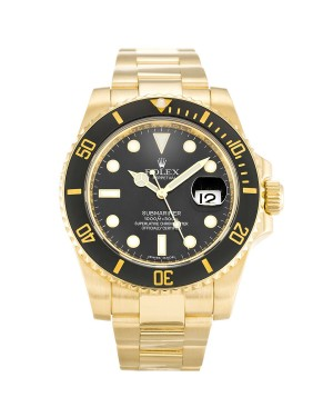 Fake Rolex Submariner Black Dial 116618LN