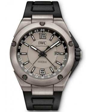 Fake IWC Ingenieur Dual Time Titanium Watch IW326403