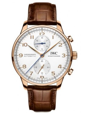 Fake IWC Portuguese Rose Gold Chronograph IW371480