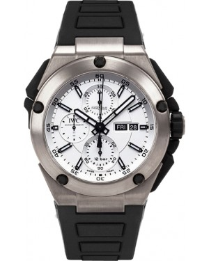 Fake IWC Ingenieur Double Chronograph Titanium Watch IW386501