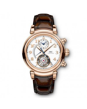 Fake IWC Da Vinci Tourbillon Retrograde Chronograph Watch IW393101