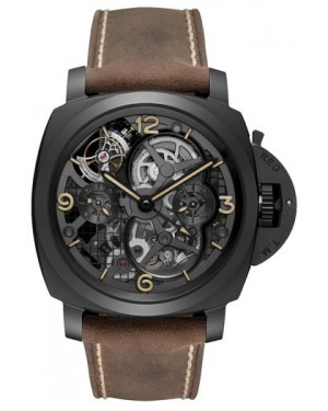 Fake Panerai Luminor 1950 Lo Scienziato Tourbillon GMT Ceramica 48mm PAM00528