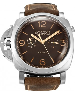 Fake Panerai Luminor 1950 Chrono Monopulsante 8 Days Titanio PAM00579