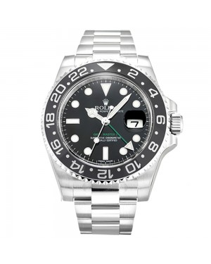 Fake Rolex GMT Master II Black Dial 116710