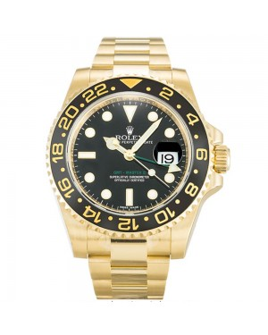 Fake Rolex GMT Master II Black 116718