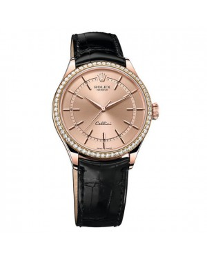 Fake Rolex Cellini Time Everose Gold 50705RBR