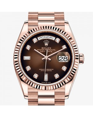 Fake Rolex Day-Date 36mm Everose Gold Watch m128235-0037