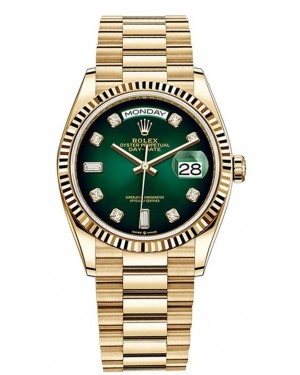 Fake Rolex Day-Date 36mm Yellow Gold Watch m128238-0069