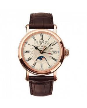 Fake Patek Philippe Perpetual Calendar Rose Gold Mens Watch 5159R-001