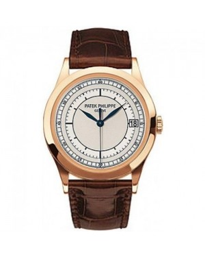 Fake Patek Philippe Calatrava Rose Gold Mens Watch 5296R-001