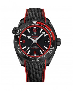 Fake Omega Seamaster Planet Ocean 600M Deep Black 215.92.46.220.10.03